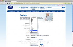 Boots Advantage Card Registration Form
